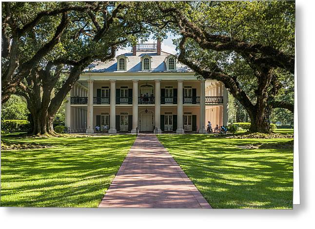 Usa, Louisiana, Oak Alley Plantation Greeting Card by Dosfotos