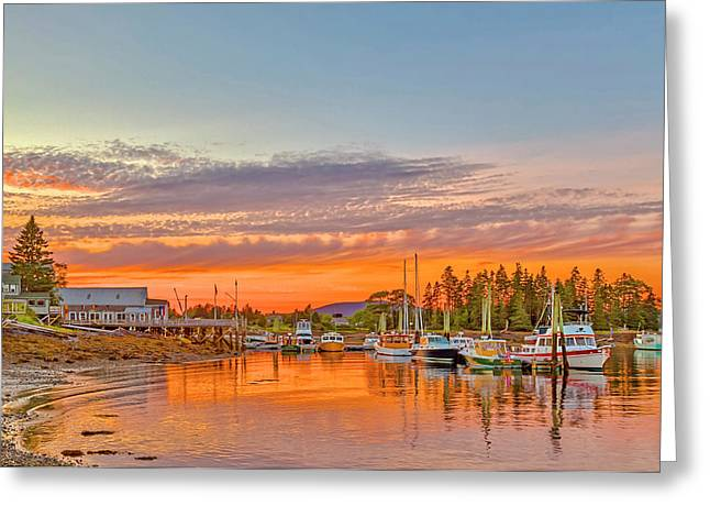 Usa, Maine, Acadia, Bass Harbor Greeting Card by Jaynes Gallery