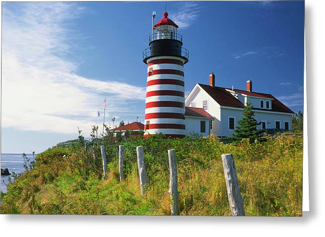 Usa, Maine, Lubec Greeting Card
