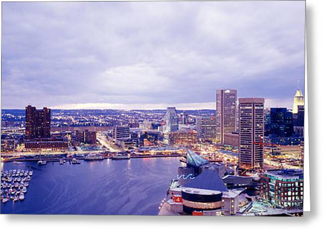 Usa, Maryland, Baltimore, Cityscape Greeting Card by Panoramic Images