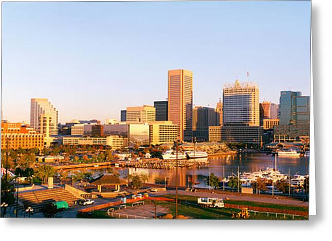 Usa, Maryland, Baltimore, High Angle Greeting Card by Panoramic Images