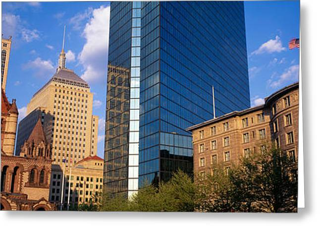Usa, Massachusetts, Boston, Copley Greeting Card by Panoramic Images