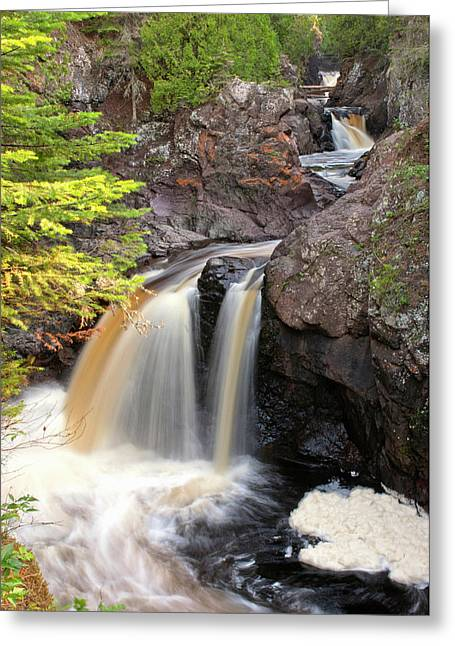 Usa, Minnesota, Lutsen, Cascade River Greeting Card