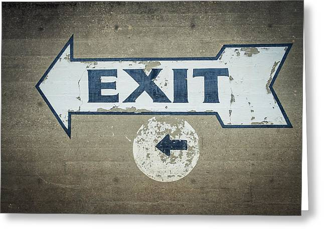 Usa, Mississippi, Exit Sign In Great Greeting Card by Dosfotos