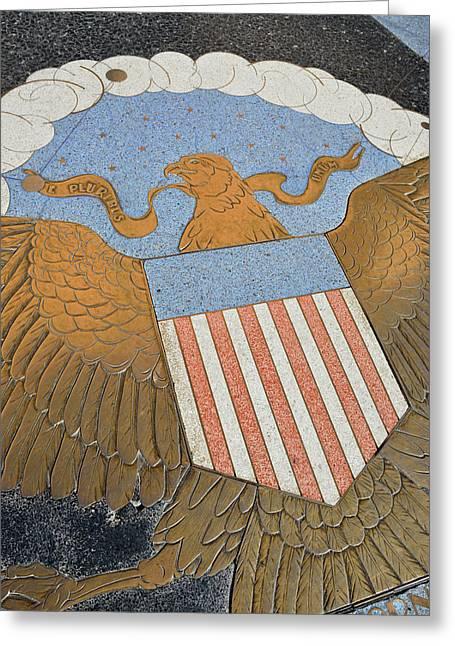 Usa, Nevada, Bas Relief Plaque Greeting Card