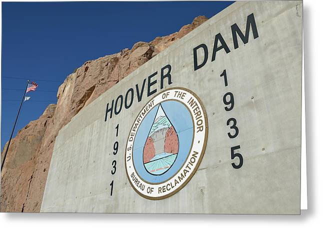 Usa, Nevada, Hoover Dam Us Department Greeting Card