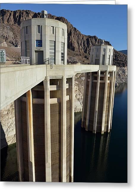 Usa, Nevada, Intake Towers Greeting Card