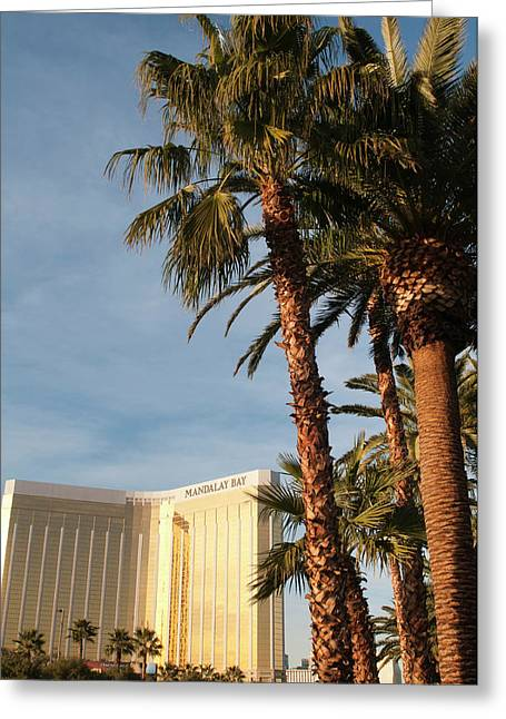 Usa, Nevada Mandalay Bay Resort Greeting Card by Michael Defreitas