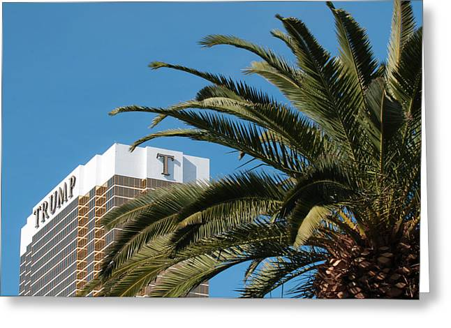 Usa, Nevada Trump Hotel Las Vegas Greeting Card by Michael Defreitas