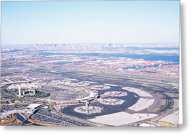 Usa, New Jersey, Newark Airport, Aerial Greeting Card