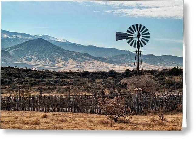 Usa, New Mexico, Aermotor Windmill Greeting Card