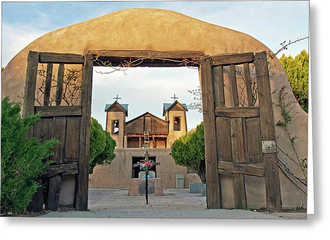 Usa, New Mexico, Chimayo, The Chimayo Greeting Card by Luc Novovitch