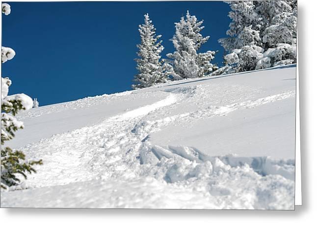 Usa, New Mexico, Santa Fe, Winter Sports Greeting Card