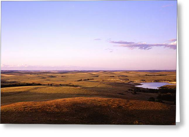 Usa, North Dakota, Stark County Greeting Card by Panoramic Images