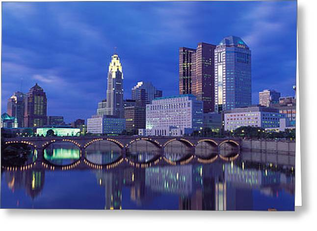 Usa, Ohio, Columbus, Scioto River Greeting Card by Panoramic Images