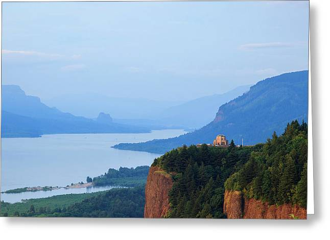 Usa, Oregon, Columbia Gorge National Greeting Card by Rick A Brown