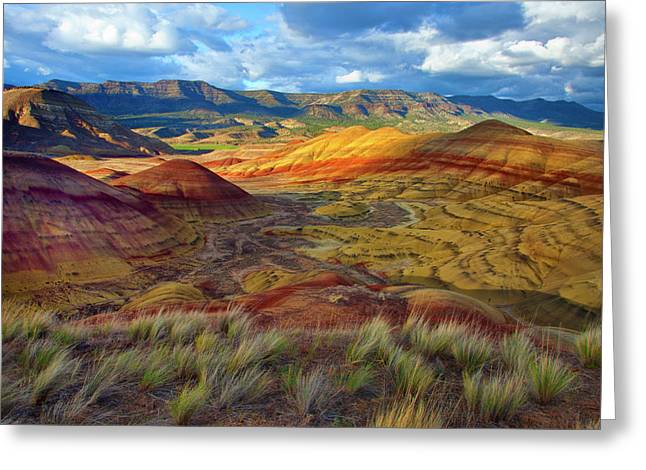 Usa, Oregon Landscape Of The Painted Greeting Card