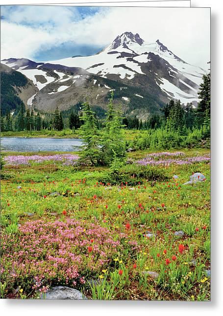 Usa, Oregon, Mt Jefferson Wilderness Greeting Card by Jaynes Gallery