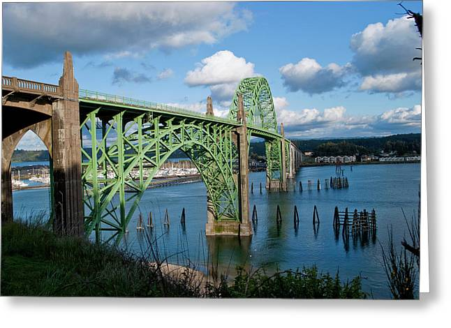 Usa, Oregon, Newport, Us 101 Bridge Greeting Card
