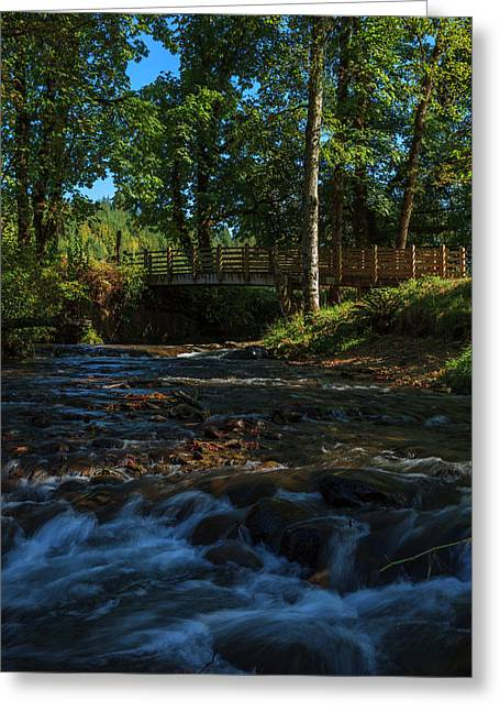 Usa, Oregon, Scio, Crabtree Creek Greeting Card by Rick A Brown