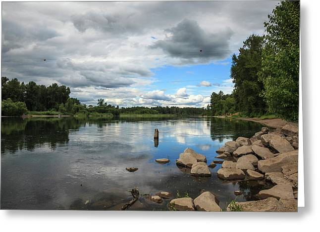 Usa, Oregon, Willamette Mission State Greeting Card by Rick A Brown