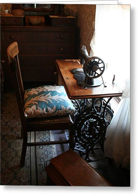 Usa Remembered  Preserving The Past Series Photography By Michele Bruce - Carter - Sewing Machine Greeting Card