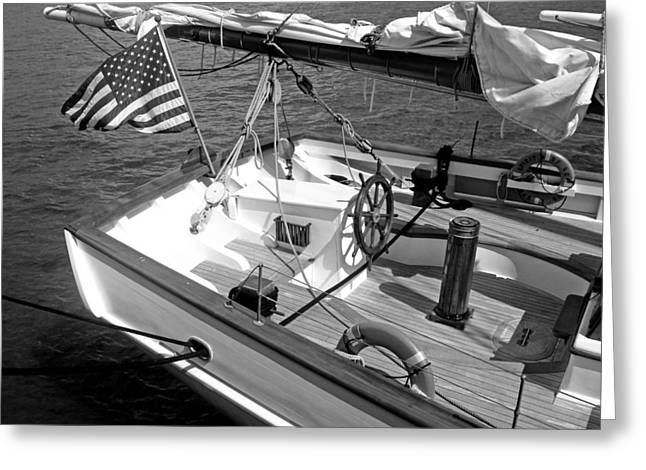 Greeting Card featuring the photograph Usa Sailboat by Ellen Tully