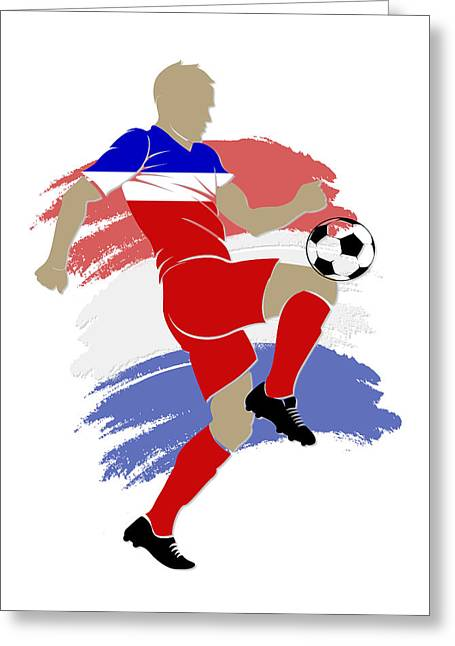 Usa Soccer Player Greeting Card by Joe Hamilton