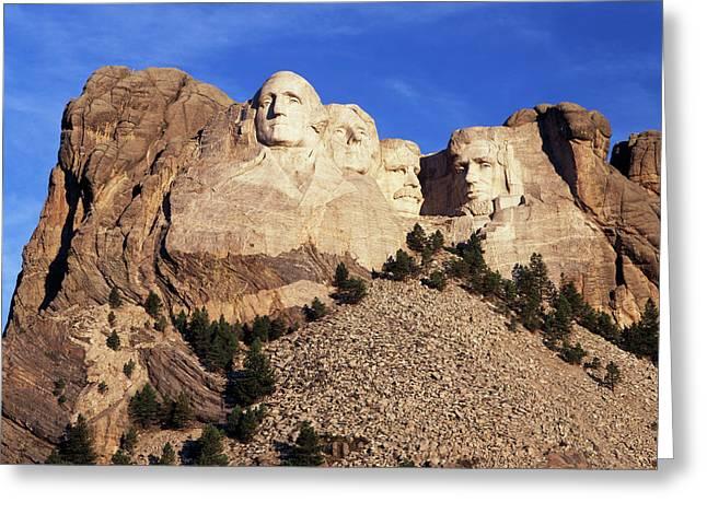 Usa, South Dakota, View Of Mount Greeting Card by Walter Bibikow