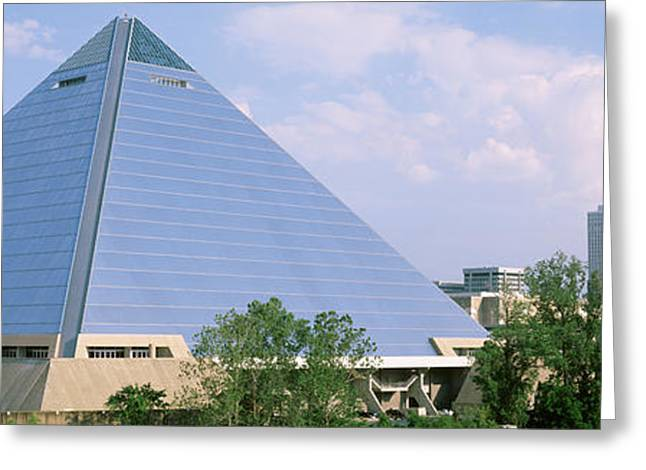 Usa, Tennessee, Memphis, The Pyramid Greeting Card by Panoramic Images