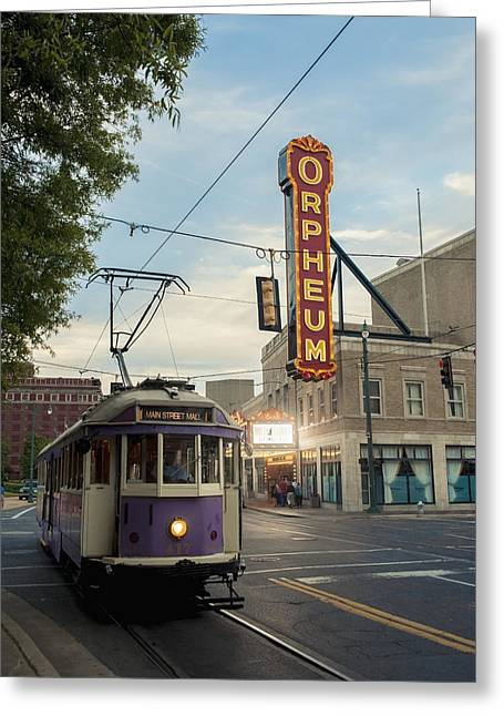 Usa, Tennessee, Vintage Streetcar Greeting Card