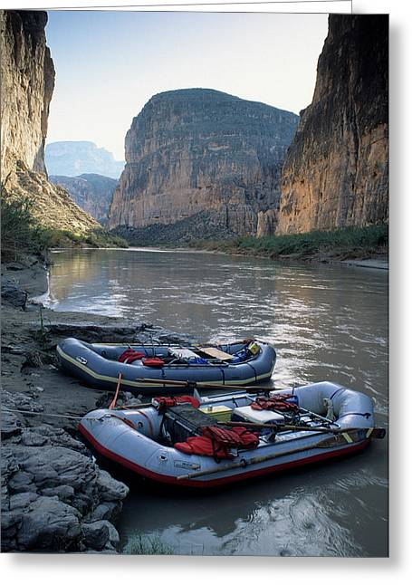 Usa, Texas, Rafting Boquillas Canyon Greeting Card by Gerry Reynolds