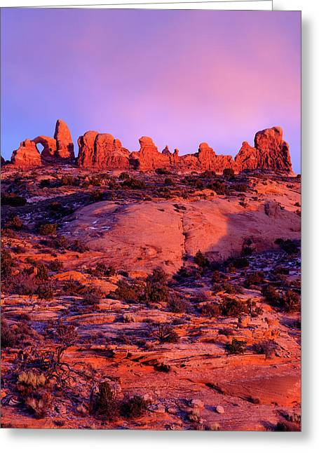 Usa, Utah Arches National Park Arches Greeting Card