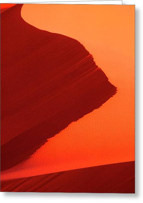 Usa, Utah, Coral Pink Sand Dunes State Greeting Card