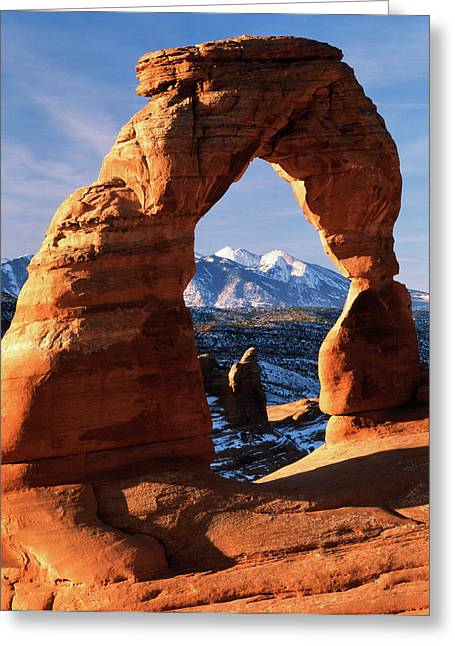 Usa, Utah, View Of Delicate Arch Greeting Card by Scott T. Smith