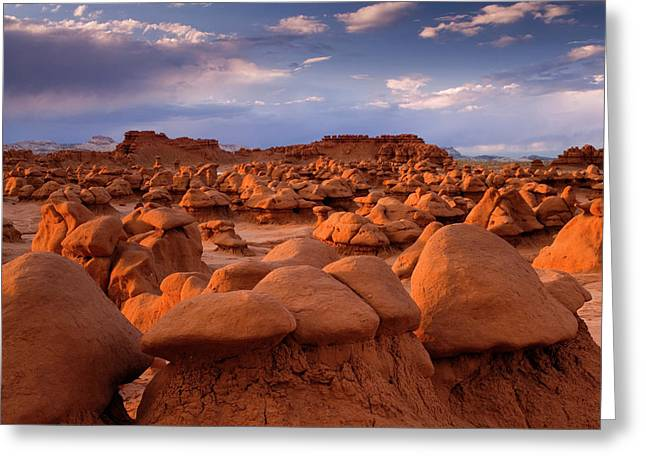 Usa; Utah View Of Goblin Valley State Greeting Card by Jaynes Gallery