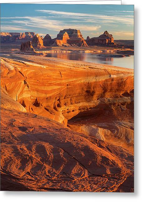 Usa, Utah Weathering Pit Ridge At Lake Greeting Card by Jaynes Gallery