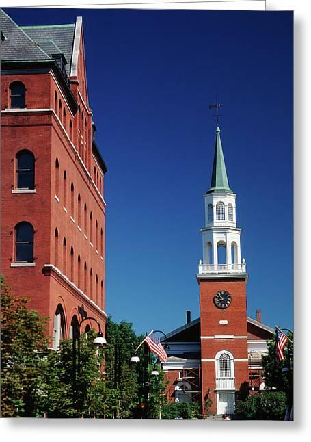 Usa, Vermont, Burlington, Church Street Greeting Card
