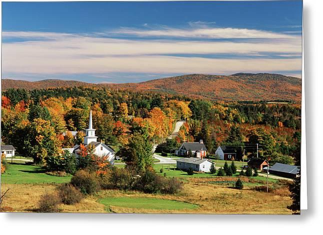 Usa, Vermont, Northeast Kingdom, View Greeting Card