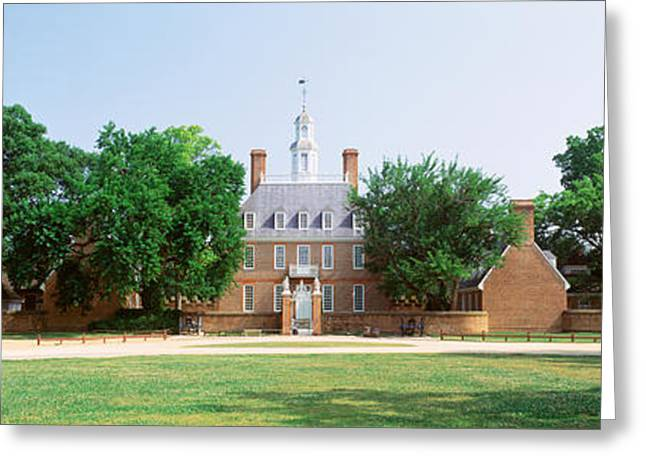 Usa, Virginia, Williamsburg, Governors Greeting Card by Panoramic Images