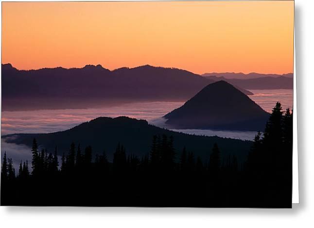 Usa, Washington, Mount Rainier National Greeting Card by Panoramic Images