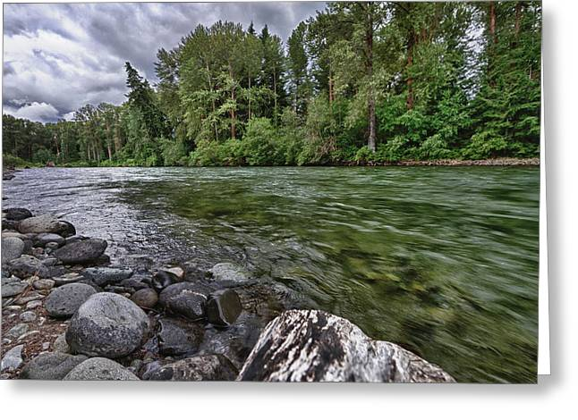 Usa, Washington, Snoqualmie National Greeting Card by Christopher Reed