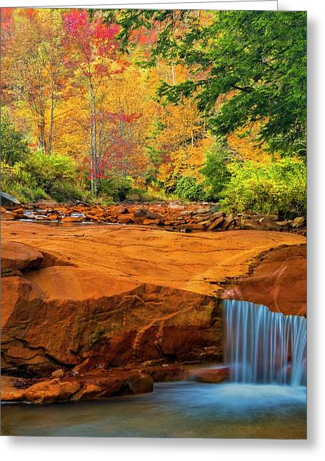 Usa, West Virginia, Douglass Falls Greeting Card by Jaynes Gallery
