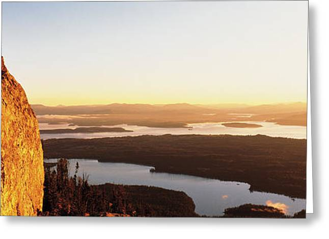 Usa, Wyoming, Grand Teton Park, Climber Greeting Card