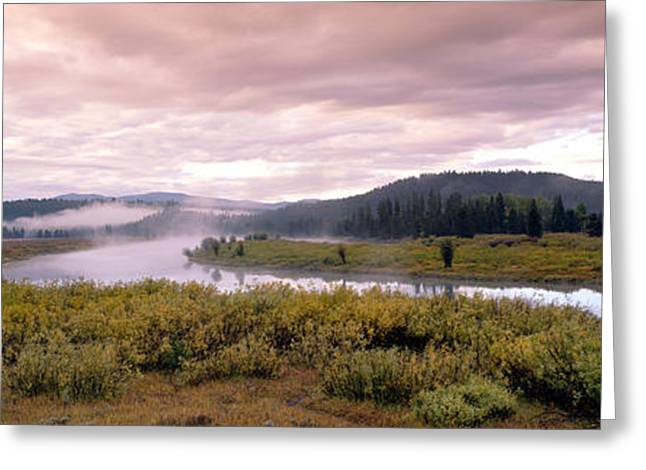 Usa, Wyoming, Yellowstone Park, Snake Greeting Card by Panoramic Images
