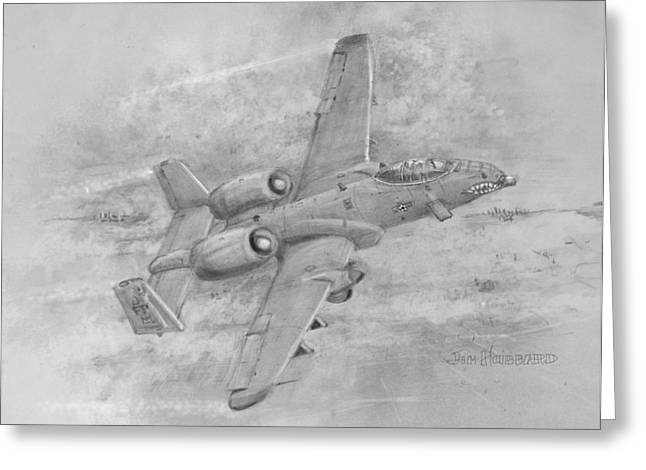 Usaf Fairchild-republic  A-10 Warthog Greeting Card