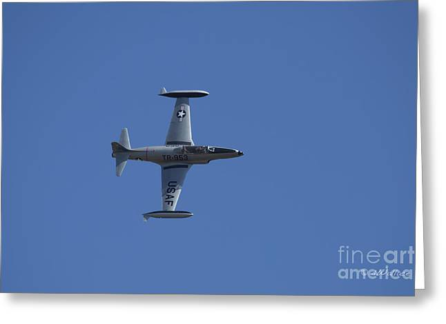 Usaf Lockheed T-33 'tr-953' Side Greeting Card by D Wallace