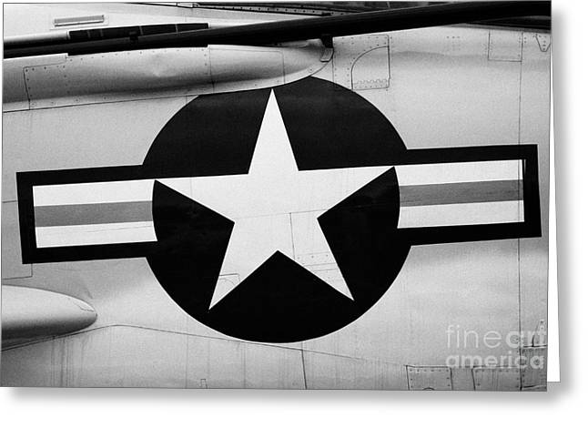 Usaf Star And Bars Insignia On A Mcdonnell F3b F3 Demon  Greeting Card by Joe Fox
