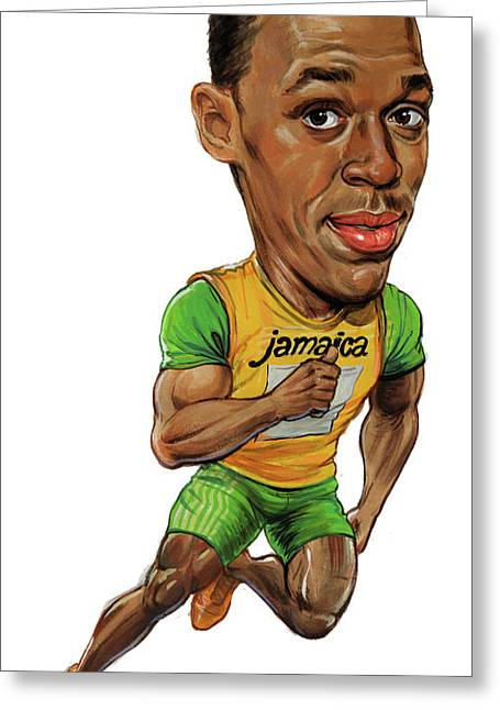 Usain Bolt Greeting Card