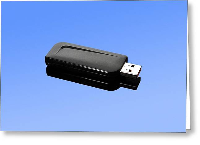 Usb Memory Stick Greeting Card by Science Photo Library